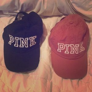 PINK by Victorias Secret Hats, Black and Rose Pink